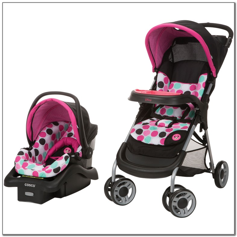 Baby Girl Carseat And Stroller Set