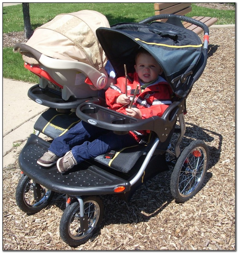 Double Jogging Stroller For Infant Car Seat And Toddler