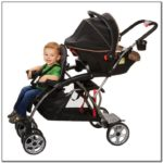 Double Stroller With Car Seat For Infant And Toddler