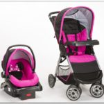 Purple Minnie Mouse Car Seat And Stroller