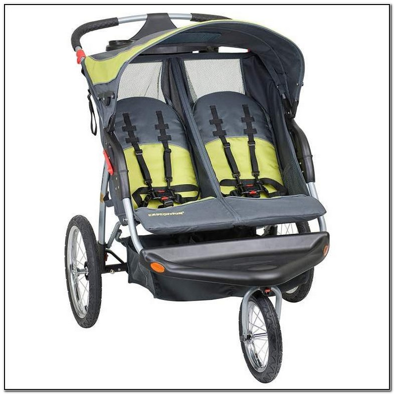 Side By Side Double Stroller With Carseat Attachment ...
