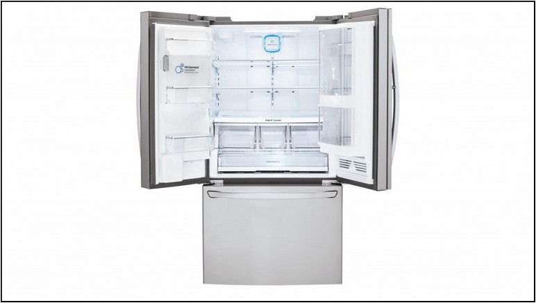 White French Door Refrigerator With Ice Maker