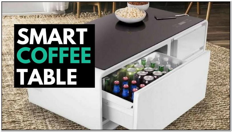 Coffee Table With Fridge And Outlets