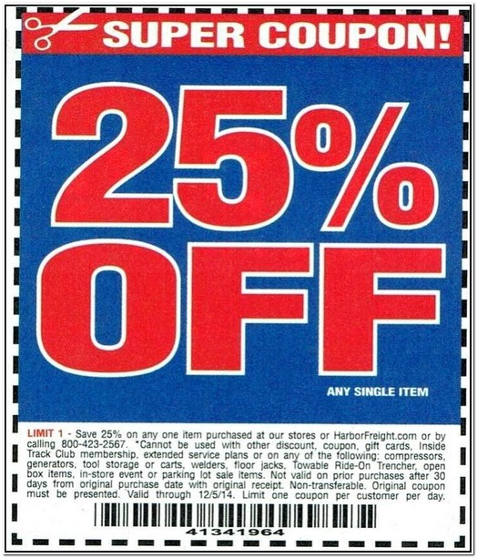 Harbor Freight Table Saw Coupon