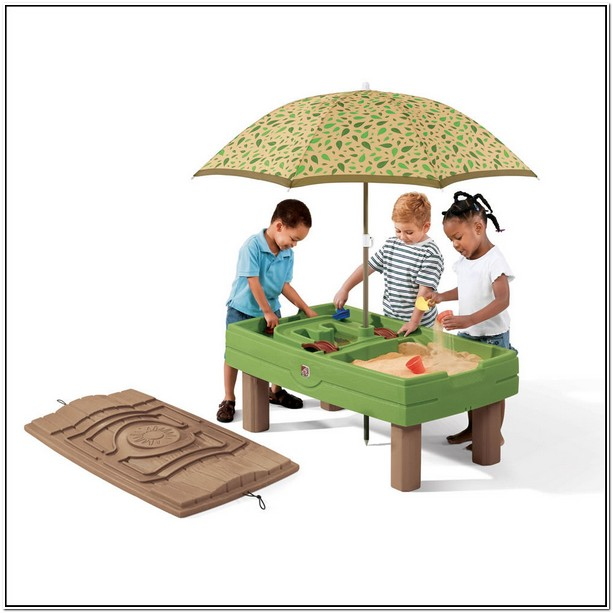 Step 2 Sand And Water Table With Umbrella