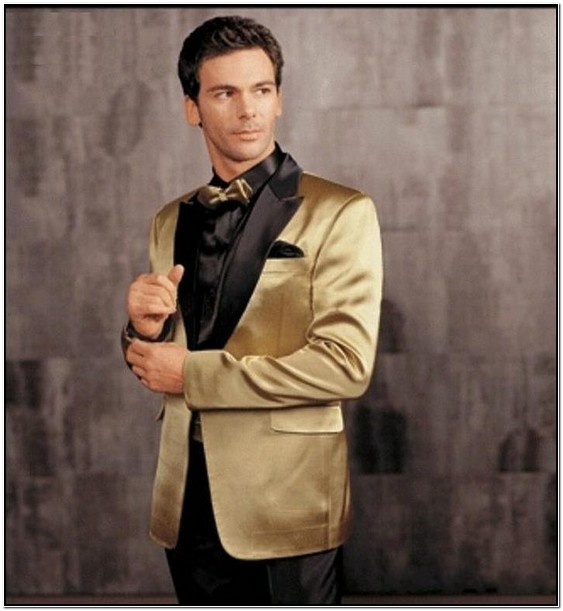 Black And Gold Suit Jacket For Prom