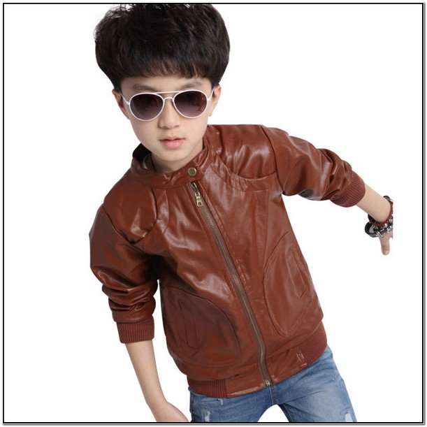 Brown Leather Jacket For Toddler Boy