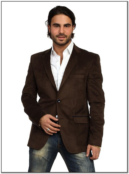 Brown Sports Jacket And Jeans