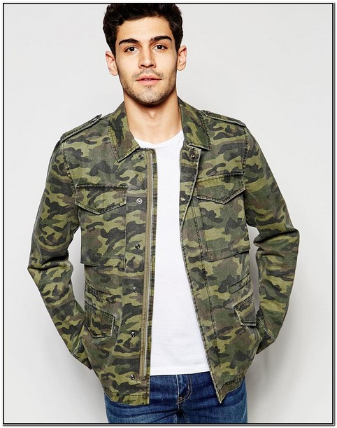 Camo Jacket Mens Asos