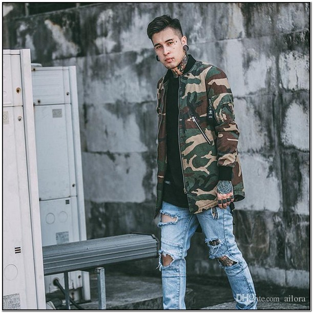 Camo Jacket Mens Fashion