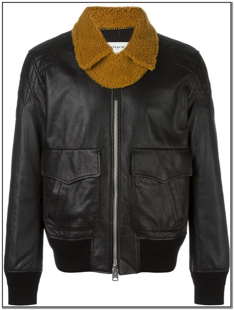 Coach Mens Leather Jacket Outlet