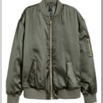 Green Bomber Jacket Womens H&m