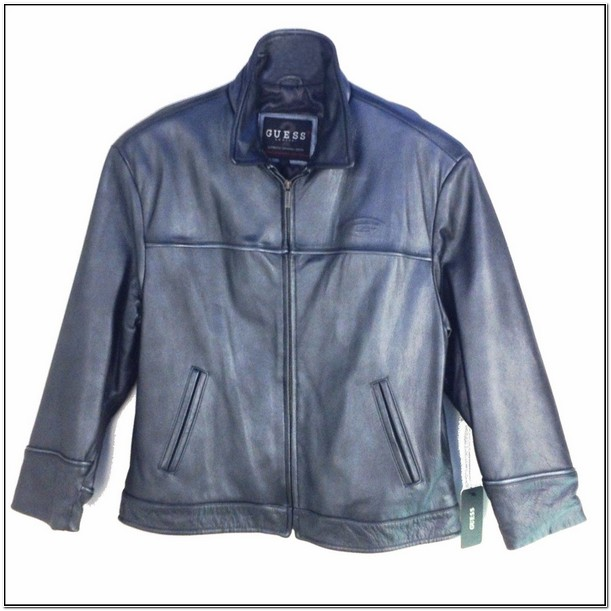 Guess Men's Leather Jacket Ebay