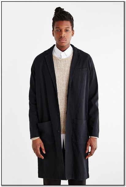 Linen Duster Jacket Mens