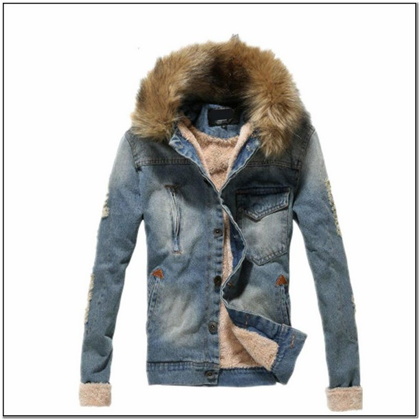 Mens Jean Jacket With Fur