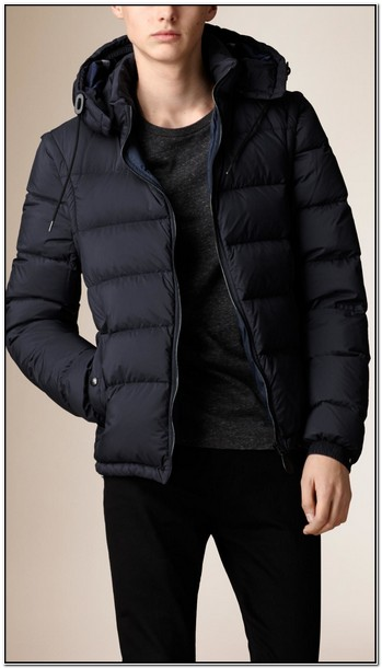 Mens Puffer Jacket With Detachable Hood