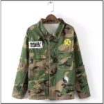 Oversized Camo Jacket With Patches