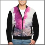 Pink Bomber Jacket Mens Amazon