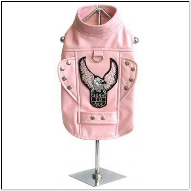 Pink Leather Jacket For Dogs