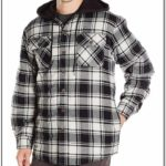 Quilted Flannel Jacket With Hood