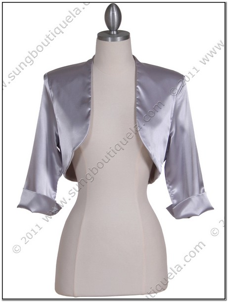 Silver Jackets For Evening Dresses