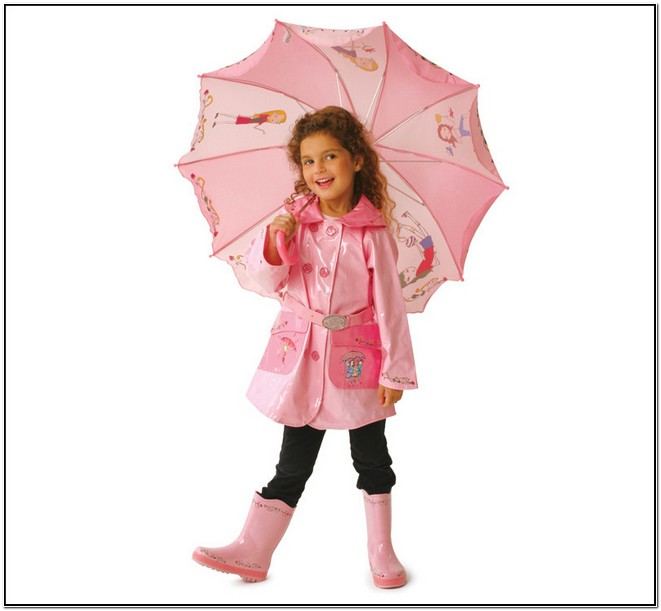 Toddler Girl Rain Jacket And Boots