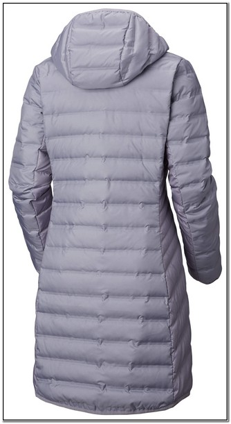 Womens Columbia Hooded Long Down Puffer Jacket